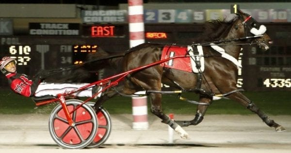 Wiggle It Jiggleit and Montrell Teague used the rail to their advantage and dominated the $200,000 Battle of Lake Erie Saturday at Northfield Park | Jeffrey J. Zamaiko