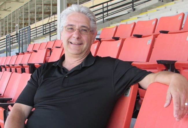 Dan Gall (in the grandstand at The Raceway at The Western Fair District), is leaving his position as the general manager of the OLG's slot hall at Western Fair to become the president and CEO of Standardbred Canada | Dave Briggs