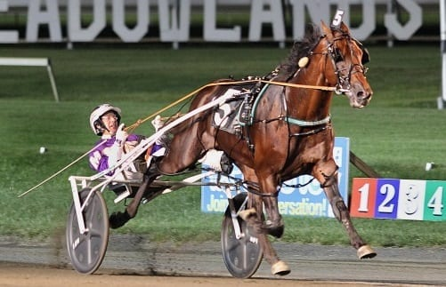 It was the third straight world record performance for Always B Miki and David Miller, this time a 2:01.1 mark for the 1 1/8th distance that was lowered later in the card by Lady Shadow in the Golden Girls | Michael Lisa
