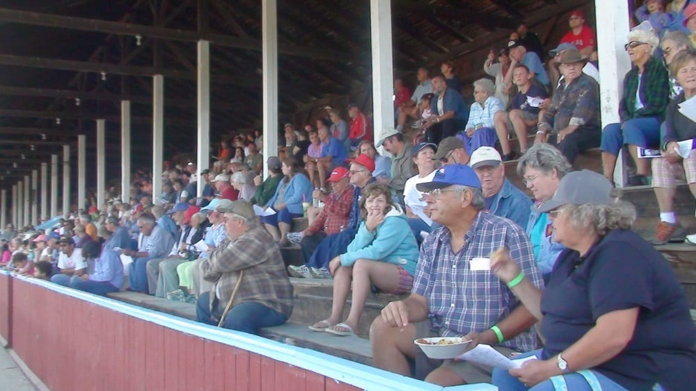 A full grandstand at the Orleans County Fair in Barton, VT in 2016   Debbie Little