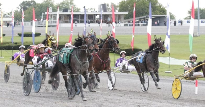 Jim Devaux drove Jersey Jim to victory in the $225,000 New York Sires Stakes Final for 2-year-old pacing colts on Oct. 14, 2017 at Yonkers Raceway | Mike Lizzi