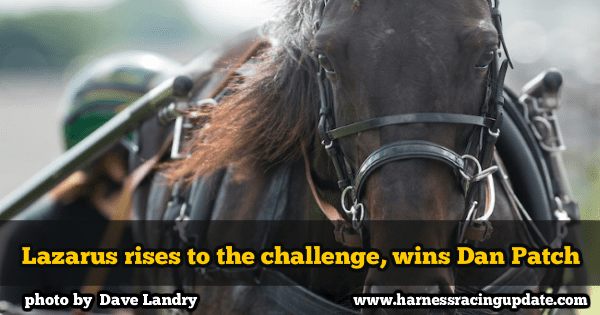 Lazarus rises to the challenge, wins Dan Patch