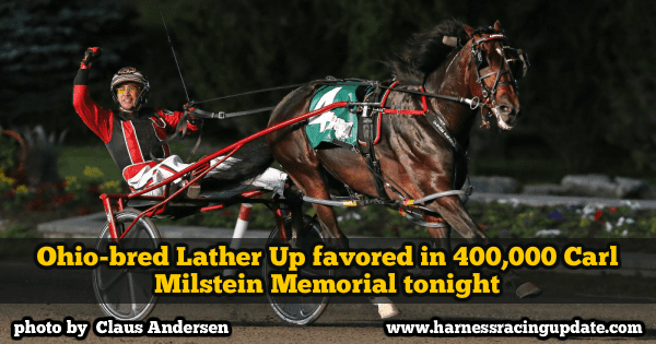 Ohio-bred Lather Up favored in $400,000 Carl Milstein Memorial tonight