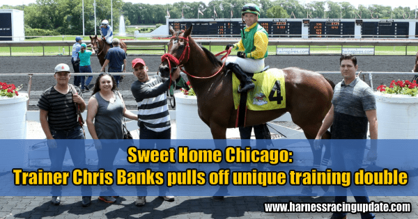 Sweet Home Chicago: Trainer Chris Banks pulls off unique training double