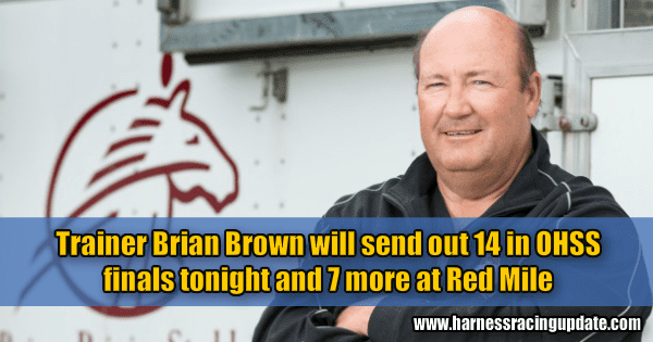 Trainer Brian Brown will send out 14 in OHSS finals tonight and 7 more at Red Mile