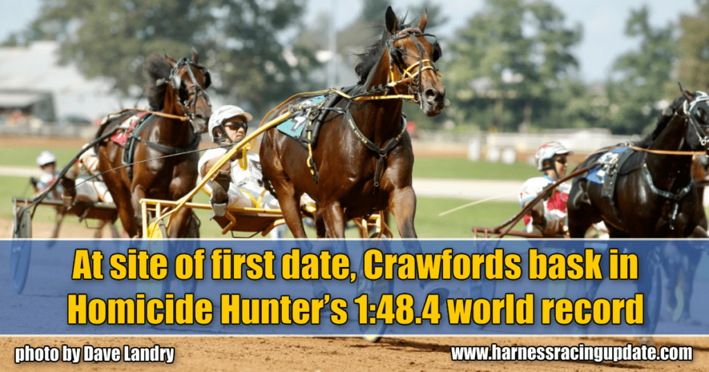 At site of first date, Crawfords bask in Homicide Hunter's 1:48.4 world record