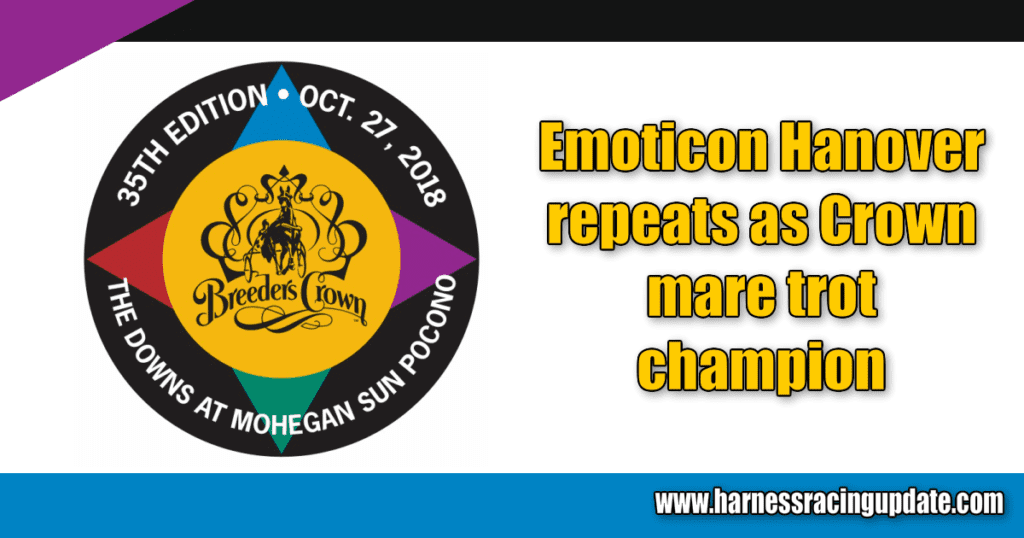 Emoticon Hanover repeats as Crown mare trot champion