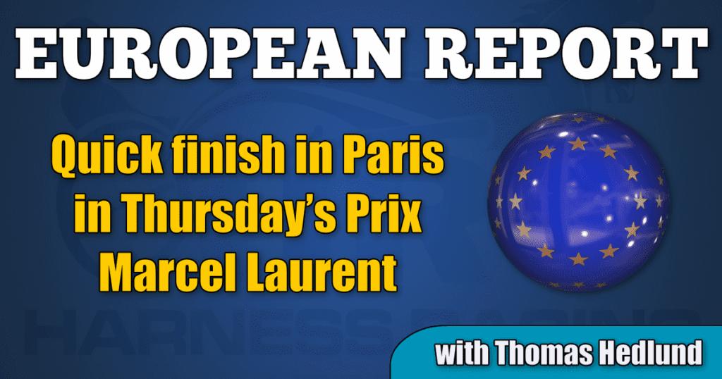 Quick finish in Paris in Thursday's Prix Marcel Laurent