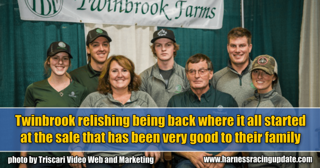 Twinbrook relishing being back where it all started at the sale that has been very good to their family