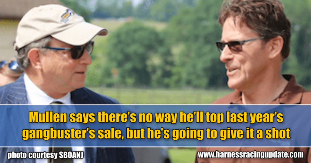 Mullen says there's no way he'll top last year's gangbuster's sale, but he's going to give it a shot
