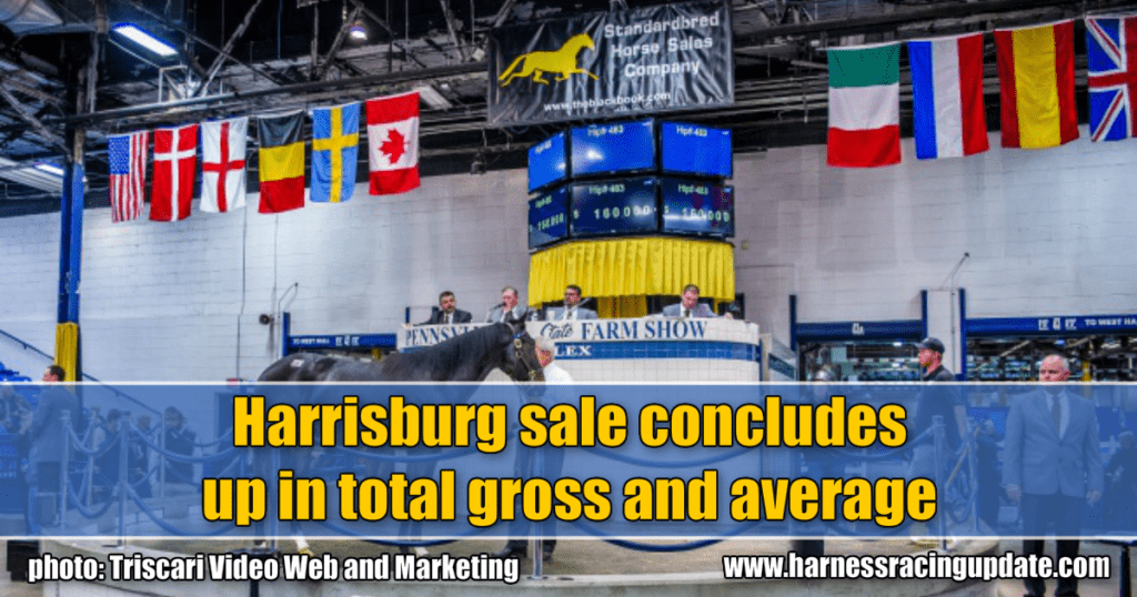 Harrisburg sale concludes up in total gross and average