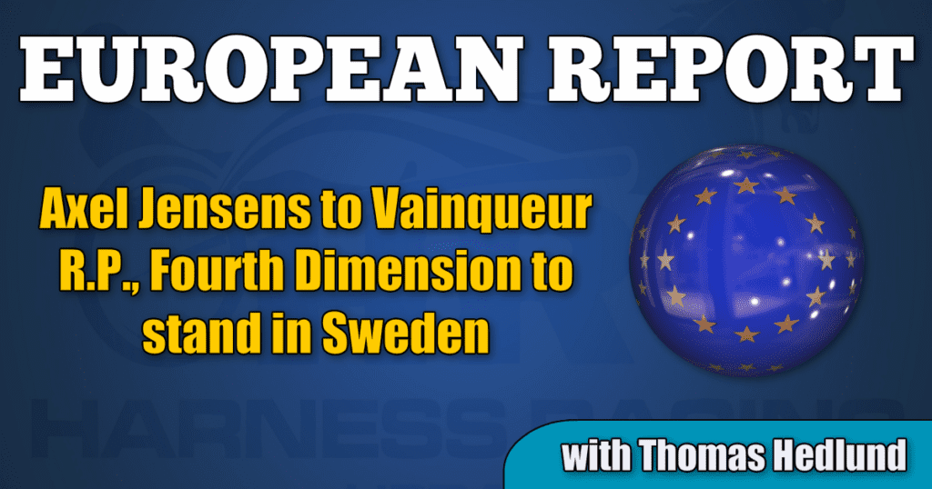 Axel Jensens to Vainqueur R.P., Fourth Dimension to stand in Sweden