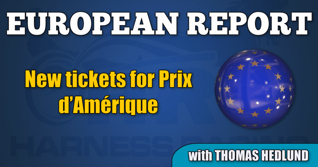 New tickets for Prix d'Amérique