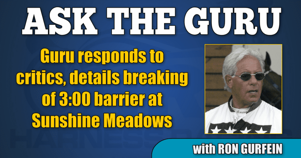 Guru responds to critics, details breaking of 3:00 barrier at Sunshine Meadows