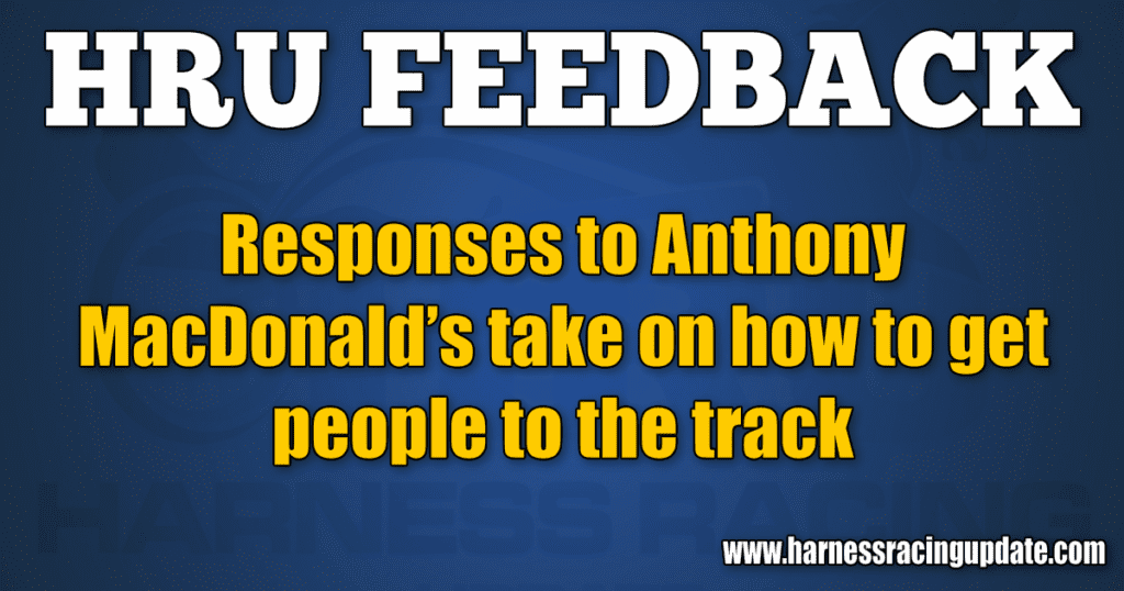 Responses to Anthony MacDonald's take on how to get people to the track