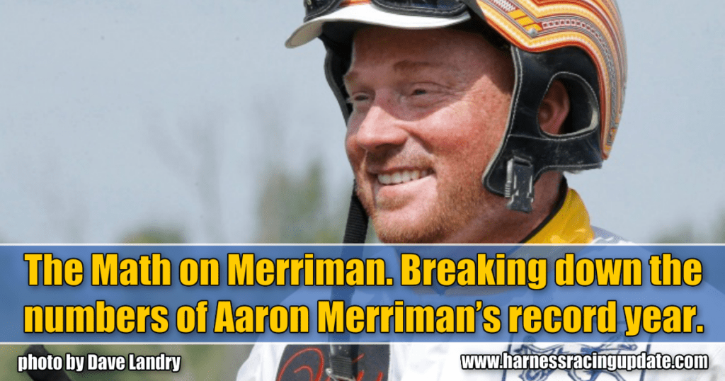 The Math on Merriman. Breaking down the numbers of Aaron Merriman's record year.