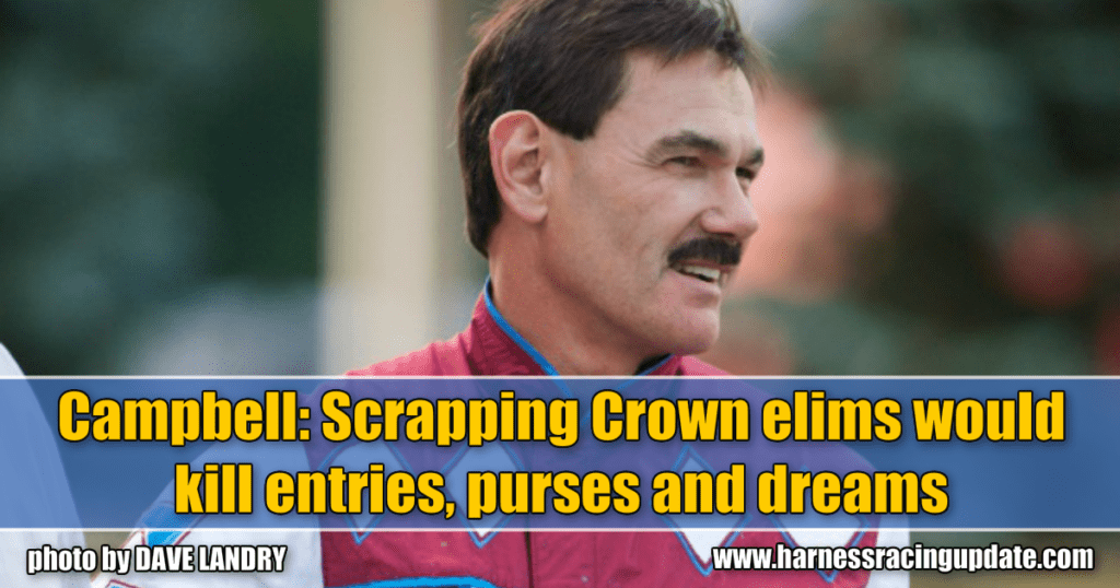 Campbell: Scrapping Crown elims would kill entries, purses and dreams