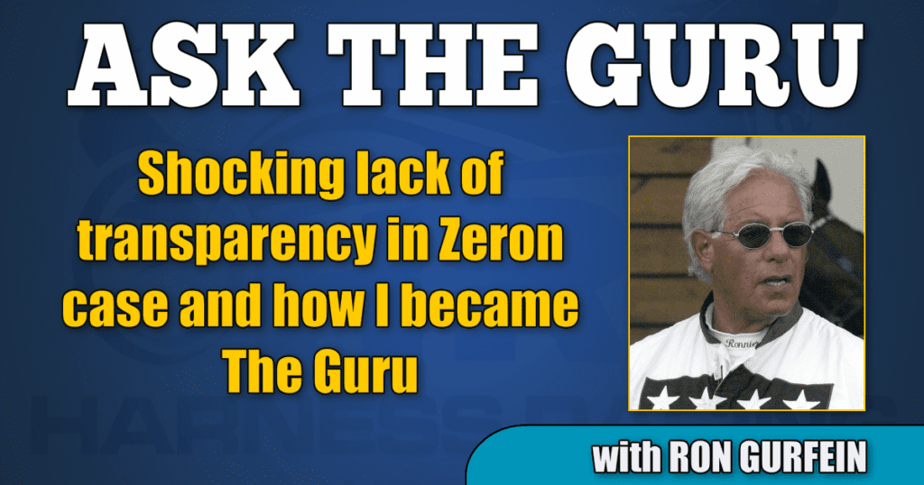 Shocking lack of transparency in Zeron case and how I became The Guru