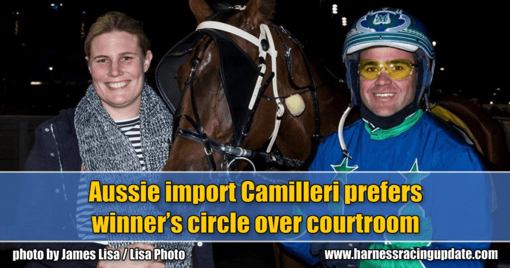 Aussie import Camilleri prefers winner's circle over courtroom