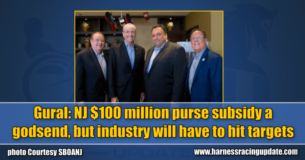 Gural: NJ $100 million purse subsidy a godsend, but industry will have to hit targets