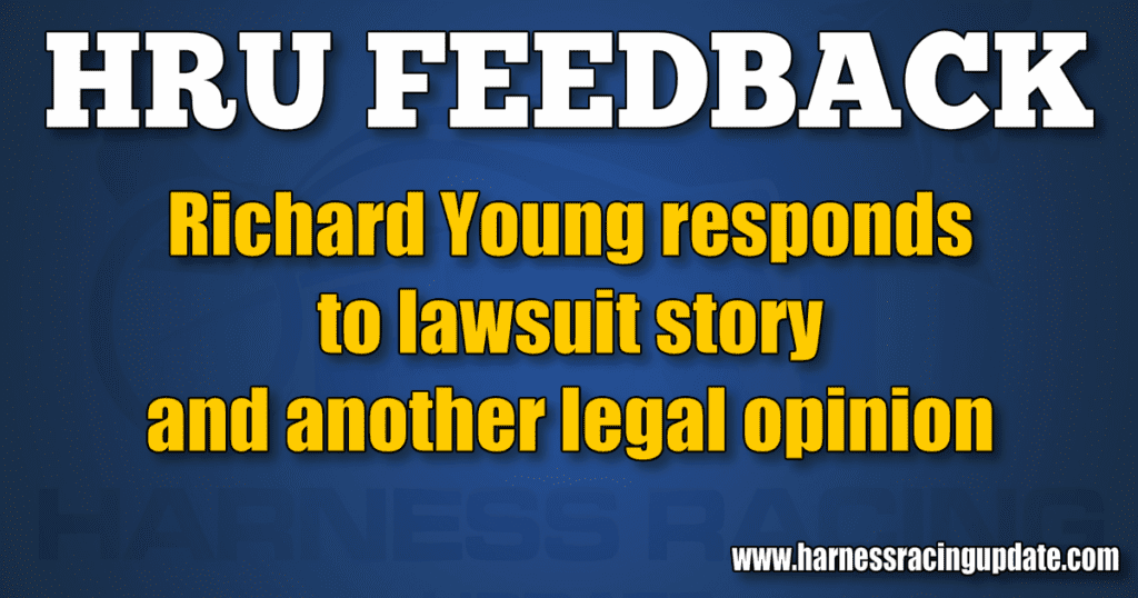 Richard Young responds to lawsuit story and another legal opinion
