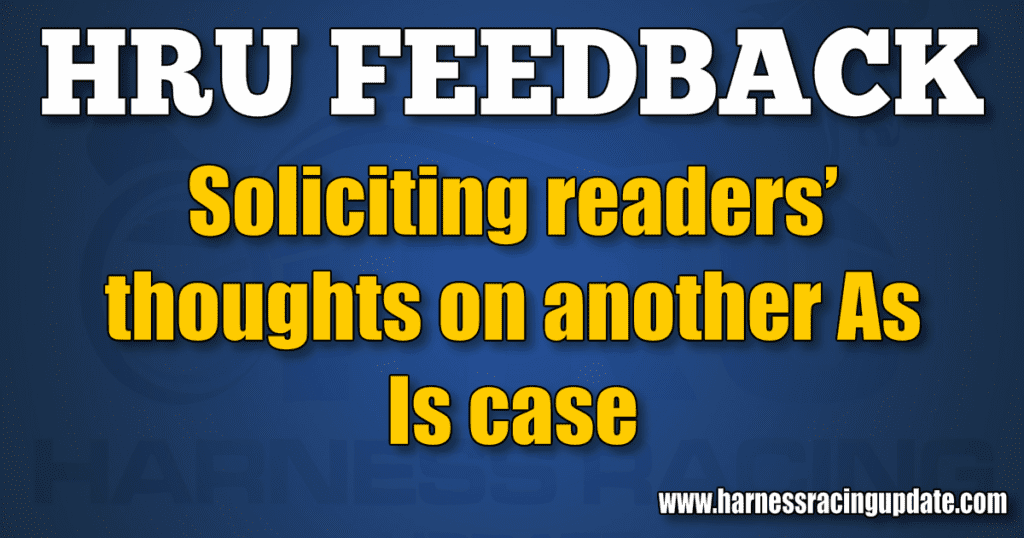 Soliciting readers' thoughts on another As Is case