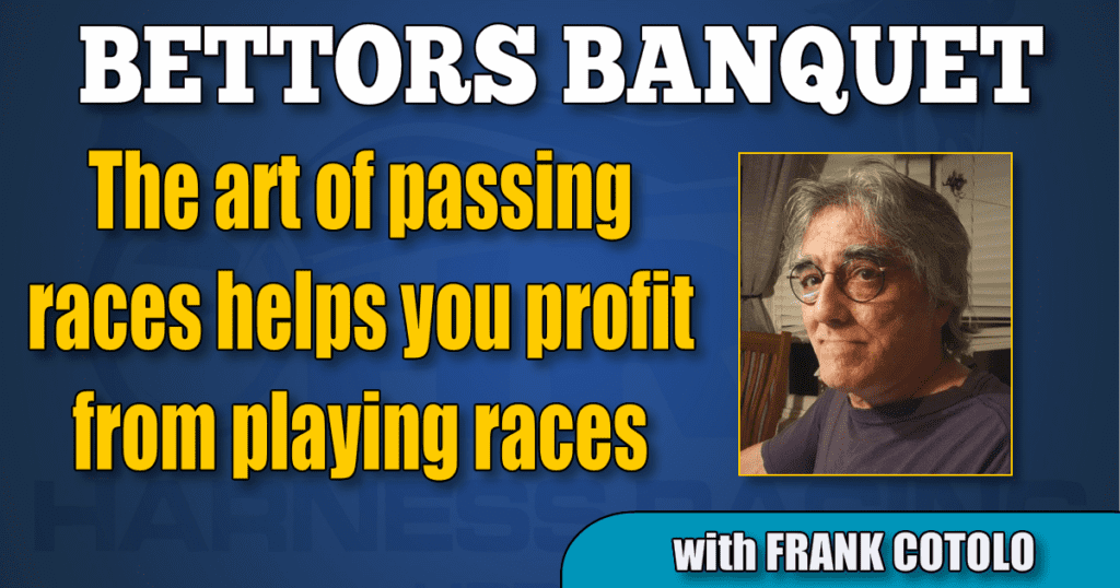 The art of passing races helps you profit from playing races