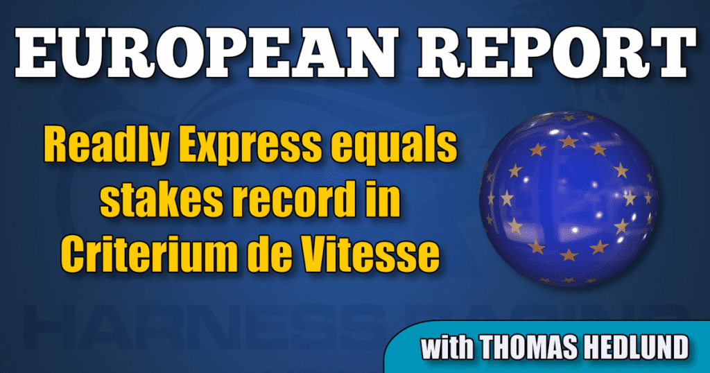 Readly Express equals stakes record in Criterium de Vitesse
