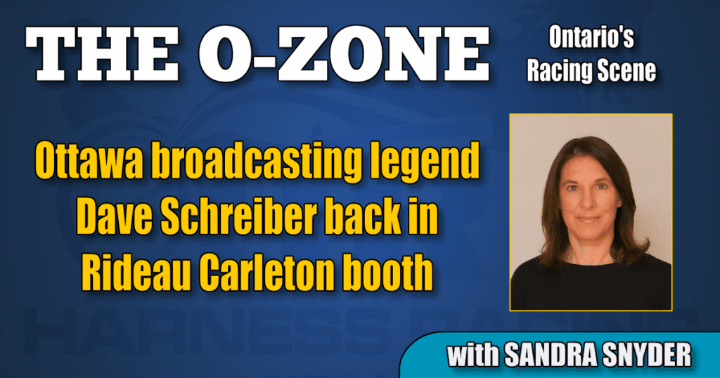 Ottawa broadcasting legend Dave Schreiber back in Rideau Carleton booth