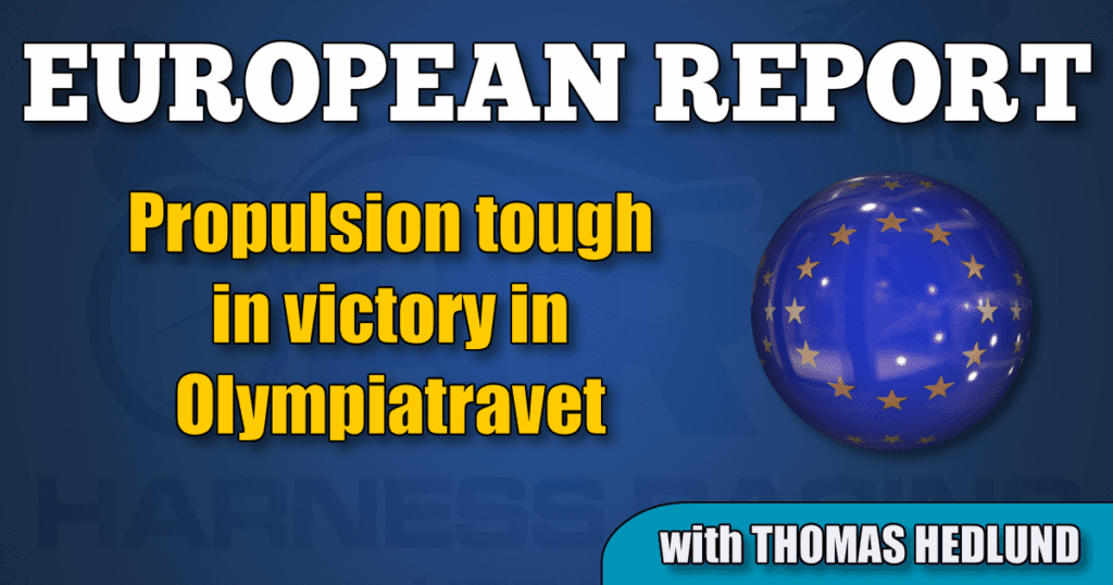 Propulsion tough in victory in Olympiatravet