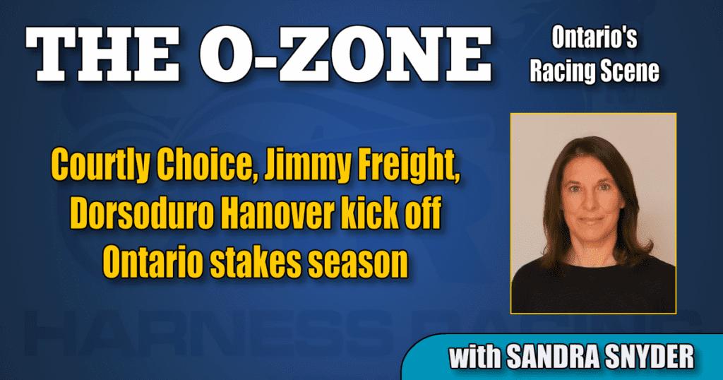 Courtly Choice, Jimmy Freight, Dorsoduro Hanover kick off Ontario stakes season