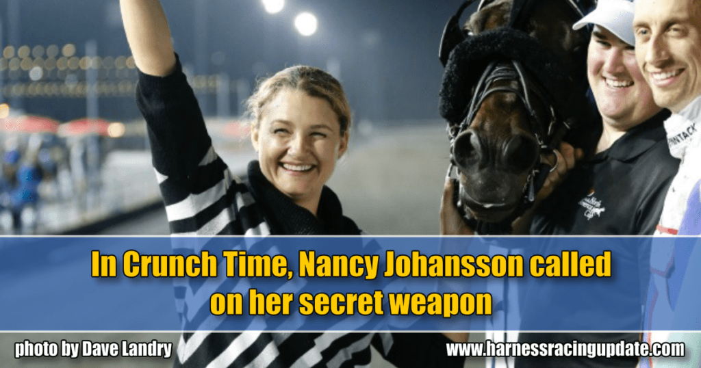 In Crunch Time, Nancy Johansson called on her secret weapon