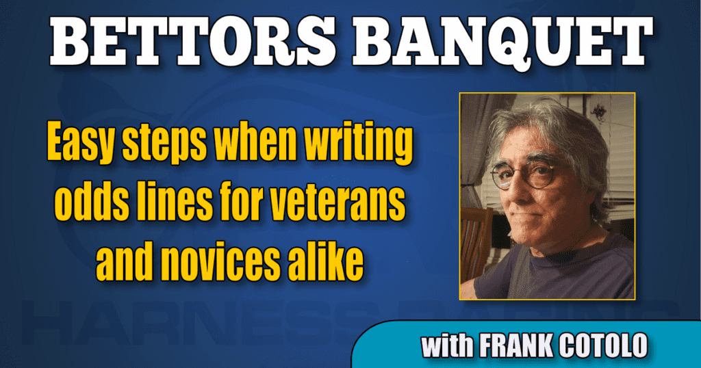 Easy steps when writing odds lines for veterans and novices alike
