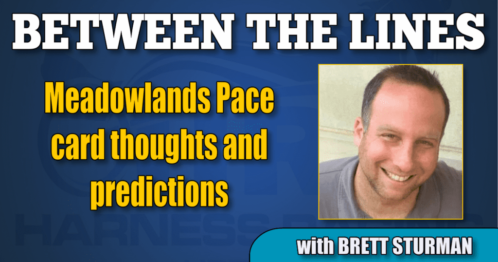 Meadowlands Pace card thoughts and predictions