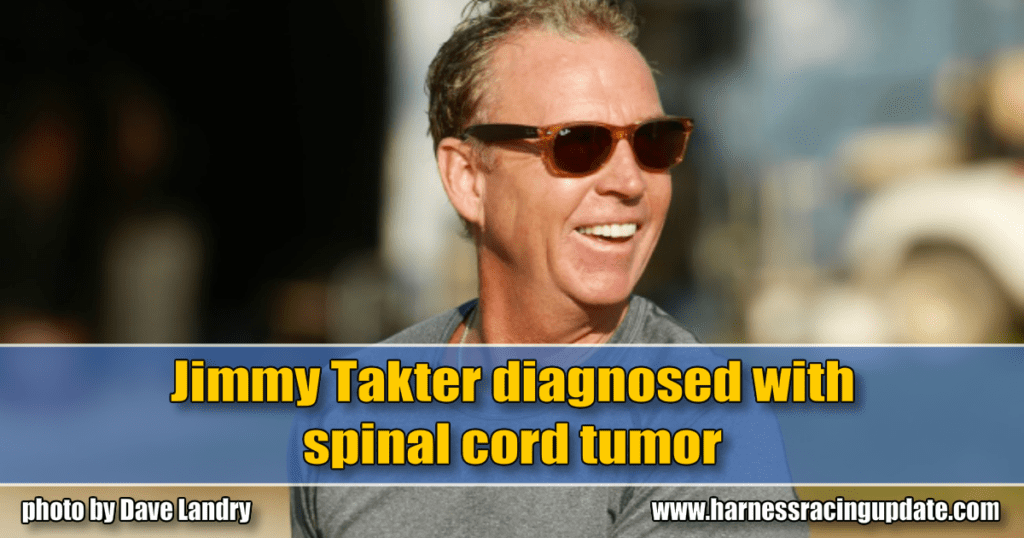 Jimmy Takter diagnosed with spinal cord tumor