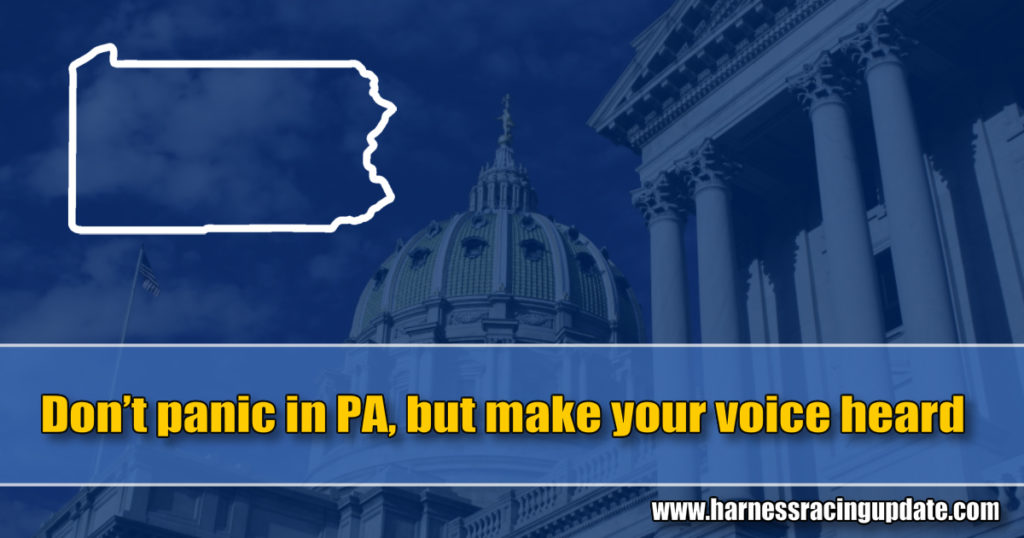 Don't panic in PA, but make your voice heard