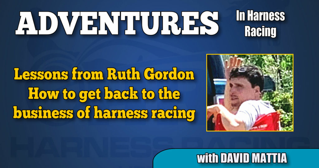 How to get back to the business of harness racing