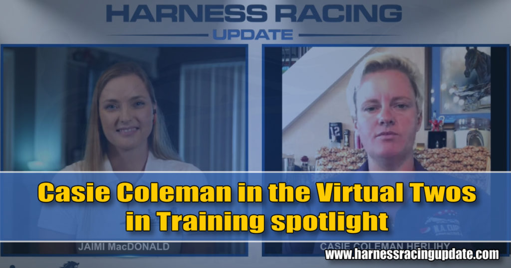 Casie Coleman in the Virtual Twos in Training spotlight