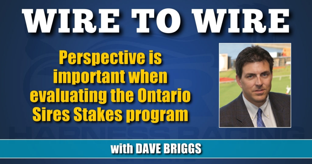 Perspective is important when evaluating the Ontario Sires Stakes program