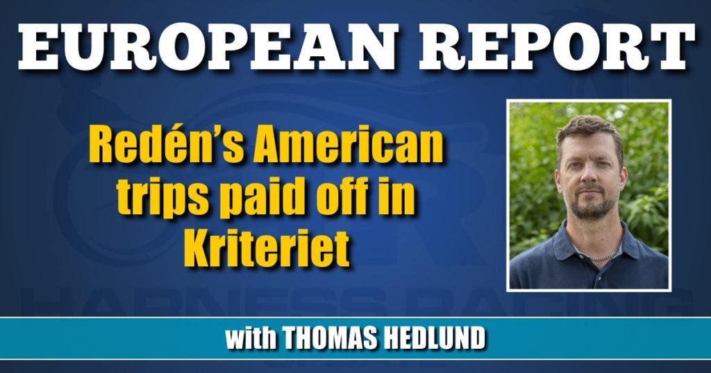 Redén's American trips paid off in Kriteriet