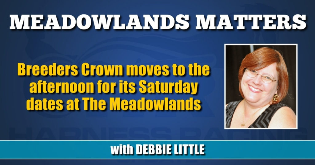 Breeders Crown moves to the afternoon for its Saturday dates at The Meadowlands