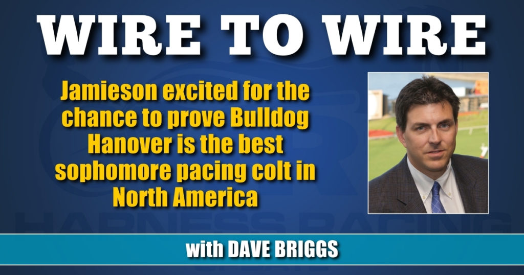 Jamieson excited for the chance to prove Bulldog Hanover is the best sophomore pacing colt in North America