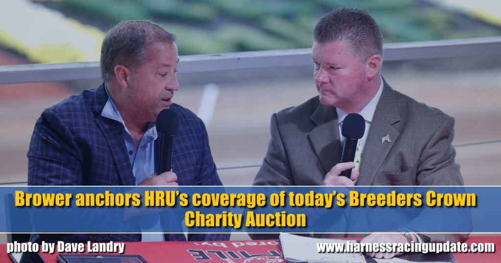 Brower anchors HRU's coverage of today's Breeders Crown Charity Auction