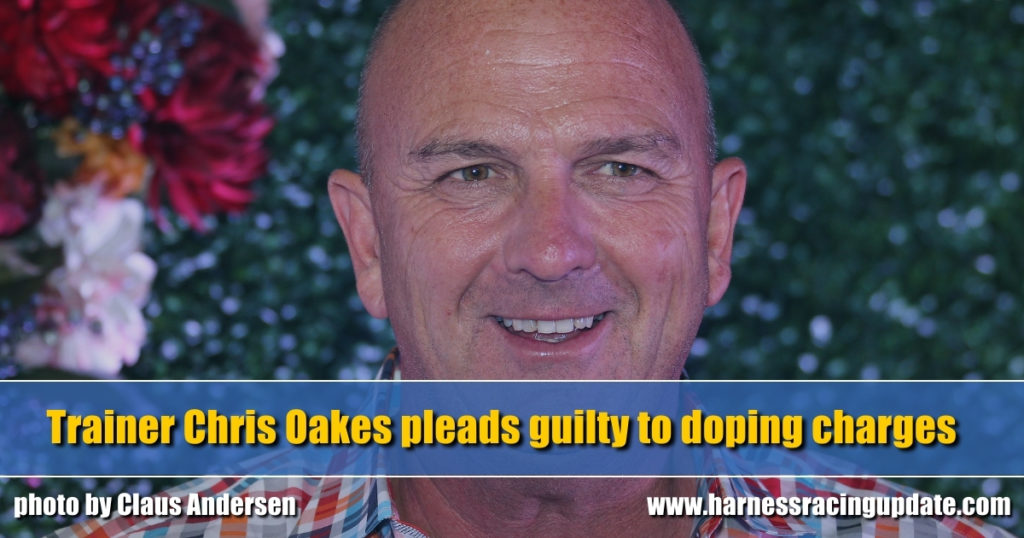 Trainer Chris Oakes pleads guilty to doping charges