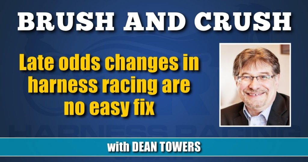 Late odds changes in harness racing are no easy fix
