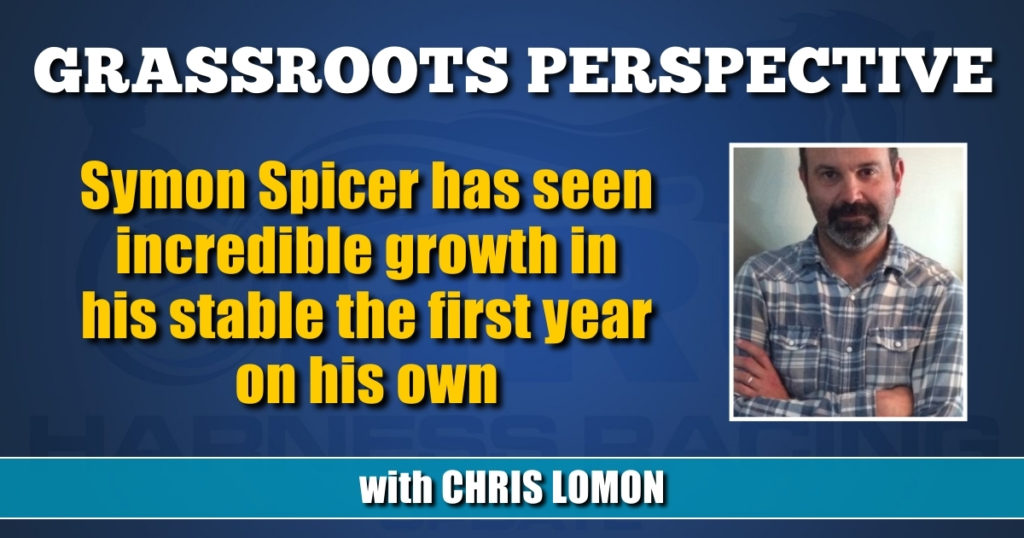 Symon Spicer has seen incredible growth in his stable the first year on his own