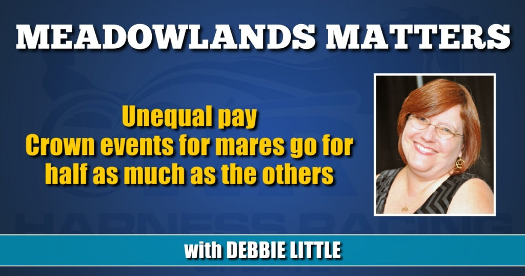 Unequal pay Crown events for mares go for half as much as the others