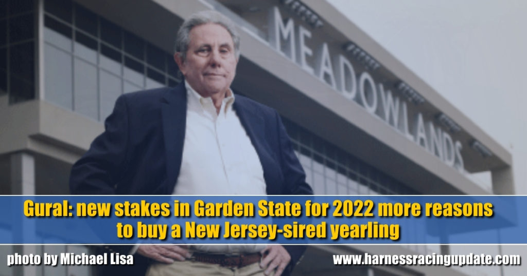 Gural: new stakes in Garden State for 2022 more reasons to buy a New Jersey-sired yearling