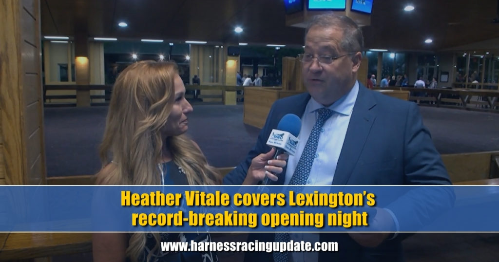 Heather Vitale covers Lexington's record-breaking opening night