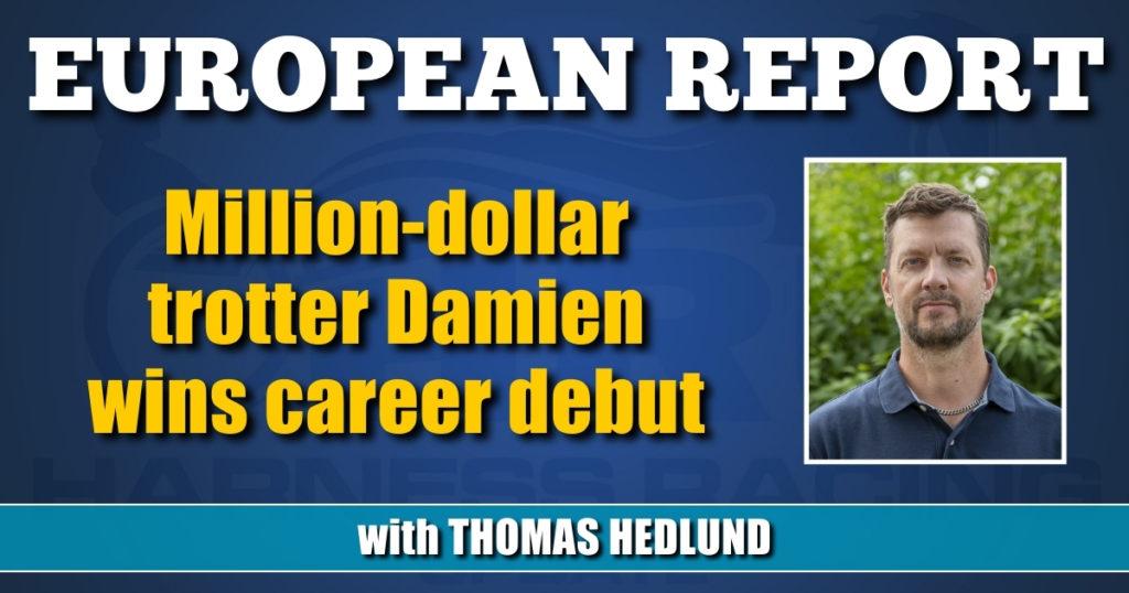Million-dollar trotter Damien wins career debut